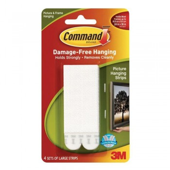 3M 17206 Command Large Picture Hanging Strip - White