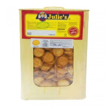 Julie's Cheese Crackers 3kg (Include Tin)