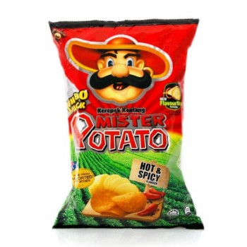 Mister Potato Jumbo Pack Hot & Spicy Potato Chip 160g