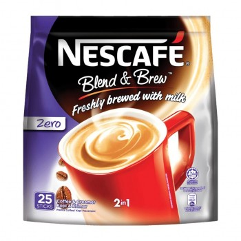 Nescafe 2in1 Blend & Brew Zero 25sticks (Item no: E01-40)