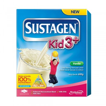Sustagen Kid 3 Plus Vanila Milk Powder 600g