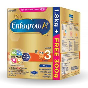 Enfagrow A+ Step 3 Milk (1-3 years) MFGM (1.8kg Free 300g) Original
