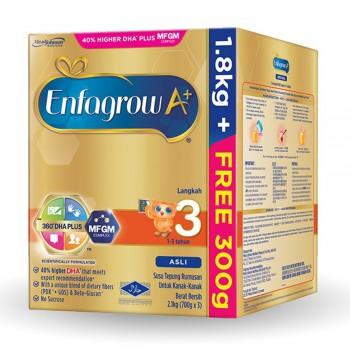 Enfagrow A+ Step 3 Milk (1-3 years) MFGM (1.8kg Free 300g) Vanilla
