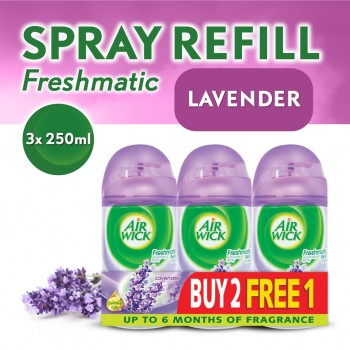Air Wick Life Scents Freshmatic Lavender Refill 250ml 2+1 (Value Pack)