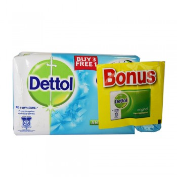Dettol Body Soap Cool 105g x 3+1+65g (Free)