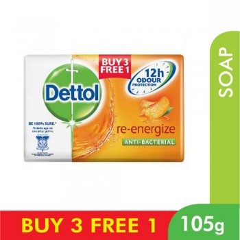 Dettol Body Soap Re-Energize 105g 3+1 (free)