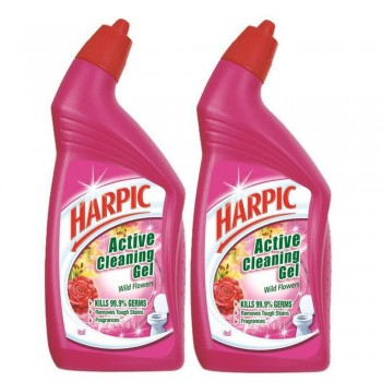 Harpic Wild Flowers Toilet Cleaning Gel 500ml x2 (Value Pack)