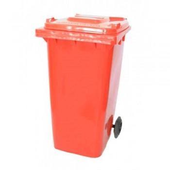 LEADER Mobile Garbage Bins BP 120 Red