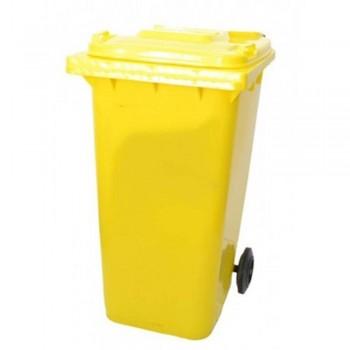 LEADER Mobile Garbage Bins BP 120 Yellow