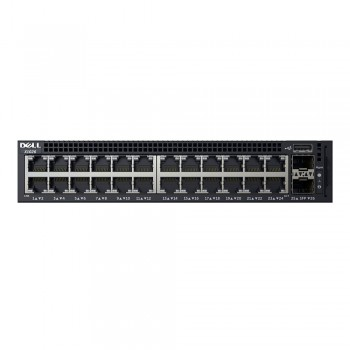 Dell 210-AEIM Networking X1026 Smart Web Managed Switch 24x 1GbE and 2x 1GbE SFP Ports