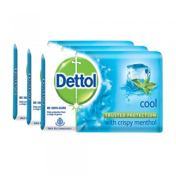 Dettol Body Soap Cool 65g x 3 Pack