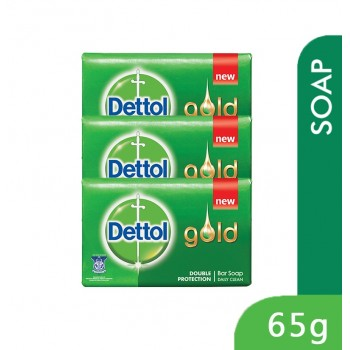 Dettol Body Soap 65g x 3Packs Gold Daily Clean