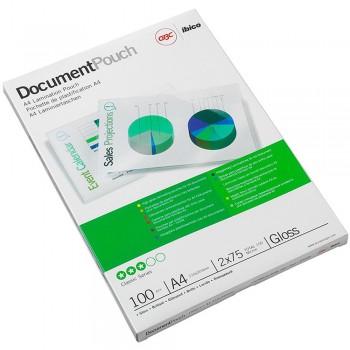 GBC Laminating Pouch 100 Mic 216x303mm A4