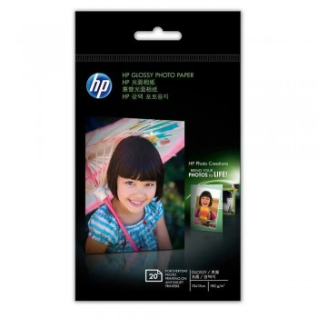 HP Glossy Photo Paper-20 sht/10 x 15 cm