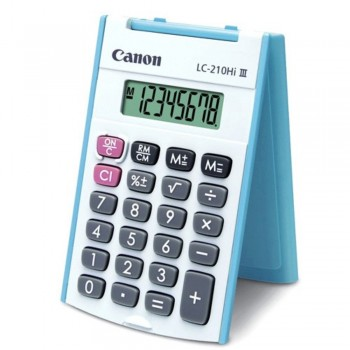 Canon Calculator LC-210Hi III - 8-Digit Mini Handheld Calculator, Palm Fit Size