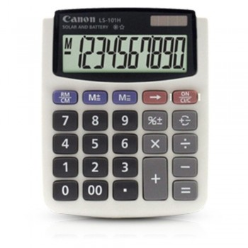 Canon Calculator LS-101H - 10-Digit Mini Desktop Calculator, Dual Power Source