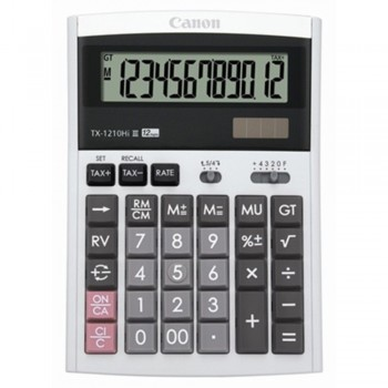 Canon Calculator TX-1210Hi III - 12-Digit Desktop Calculator, Tax Calculation, IT Touch Keyboard