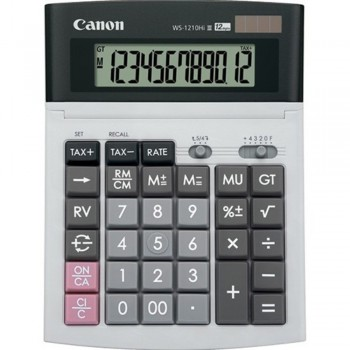 Canon Calculator WS-1210Hi III - 12-Digit Desktop Calculator, Tax Calculation, IT Touch Keyboard