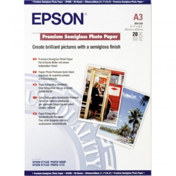 Epson S041334 Premium Semigloss Photo Paper - A3 - 20sheets - 251g