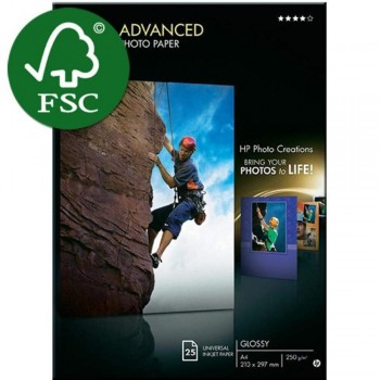 HP Advanced Glossy Photo Paper - A4 - 25 Sheets - 250gsm (Q5456A)