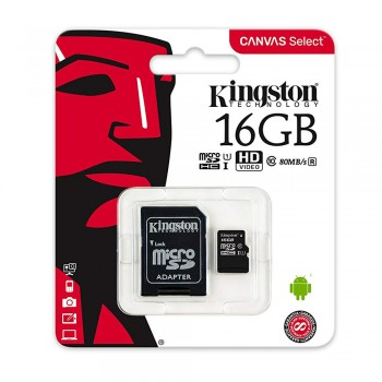 Kingston MicroSDHC Class 10 UHS-I Card 16GB