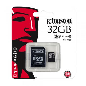 Kingston MicroSDHC Class 10 UHS-I Card 32GB