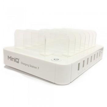 MiniQ Charging Station 7 Usb Power Charger, white