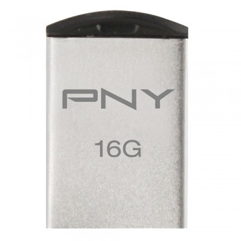 PNY Stainless Steel Micro M2 Attache USB Flash Drive - 16GB (Item No: PNYM2MICRO16) A4R2B98