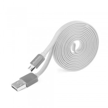 Yoobao Colourful Micro (80cm) USB Cable - White (Item No: YB405-CBL-WHT) A4R2B83 -while stock last