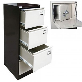 LX44AS Inner Safe w/ LX44GN Steel Filing Cabinet 4-Drawer