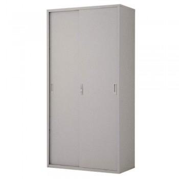 Full-Height Steel Cupboard L34B - Sliding Door with 3 Shelves