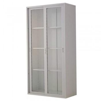 Full-Height Steel Cupboard L35B - Swing Glass Door with 3 Shelves