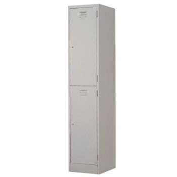 Steel Locker L552B - 2-Compartment with Keylock