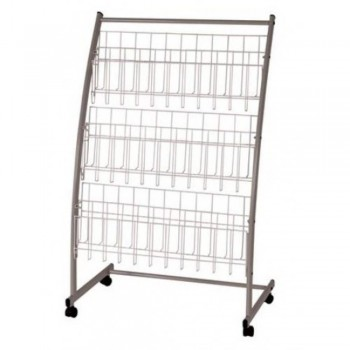 Newspaper & Magazine Rack MR203 - 640W x 350D x 1090H (Item No: G05-48) A6R1B19