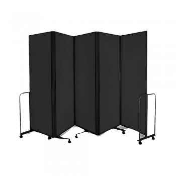 WP-LB5-V02 LAMBO PANELS Black - Panel Size :61cm x 180cm x 5Panels | Folded size : 68 x 194x 54CM | Open Length : 310cm (Item No : G05-155)