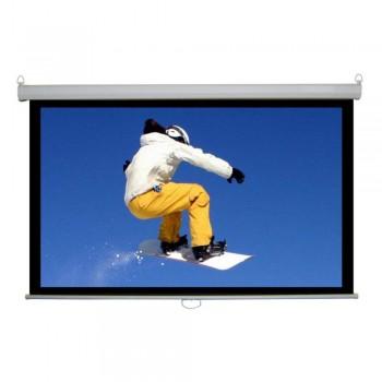 "SAMPRO 144"" x 144"" Motorized Screen Matte White Fabric Thickness (Item No: G18-18)"