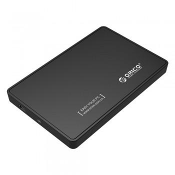 "Orico 2588US 2.5"" USB2.0 Portable Hard Drive Enclosure - Black"