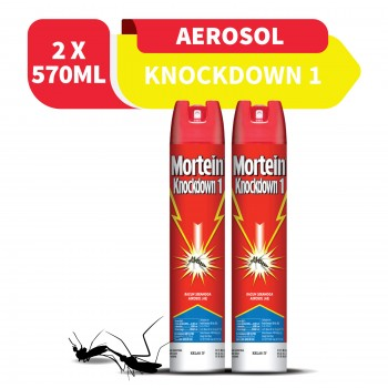 Mortein Knockdown I Aerosal 570ml x2 (Value Pack)