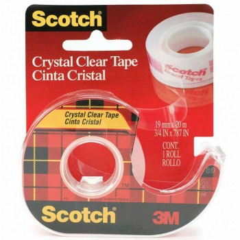 3M 1920 Crystal Clear Tape 19mmx20M