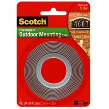 3M Exterior Mounting Tape - 25.4mm X 1.5m