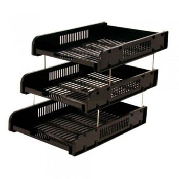 CBE 8012-3 ABS DOCUMENTARY TRAY-BLACK ( ITEM NO : B10 30 BK )