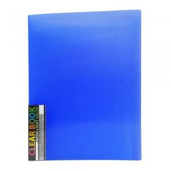 CBE 11440 Neon Clolour Clear Holder - A4 (40pockets) Blue