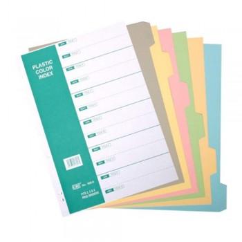 CBE 906-6 - 6col Synthetic Color Index Divider (Item No: B10-148) A1R4B7