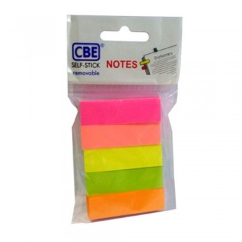 CBE 14040 Neon Color Sticky Flags (50mm x 15mm)