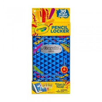 Crayola 15ct Dual Tip Color Pencil Locker - 046841