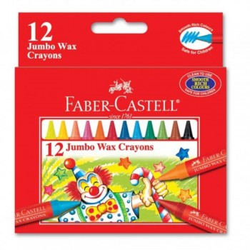 Faber Castell Jumbo Wax Crayons 122512 - 12pcs (Item No: A02-25) A1R1B155