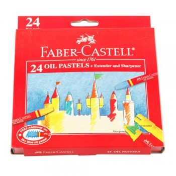 Faber Castell Oil Pastel Box 121224 - 24 Colour (Item No: B05-08) A1R2B136