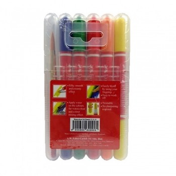 Faber Castell 5 Watercolour Gel Pastels With Brush (121225)