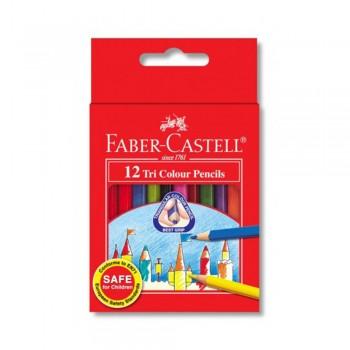 Faber Castell Tri-Grip 12 Short Color Pencil (115832)