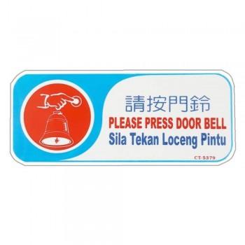 KENO Plastic Notice Sign - PLEASE PRESS DOOR BELL